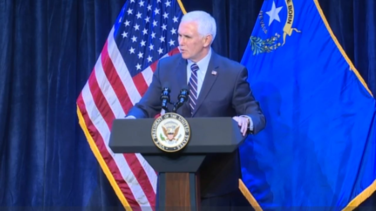 VP Pence headlines Nevada Republican rally