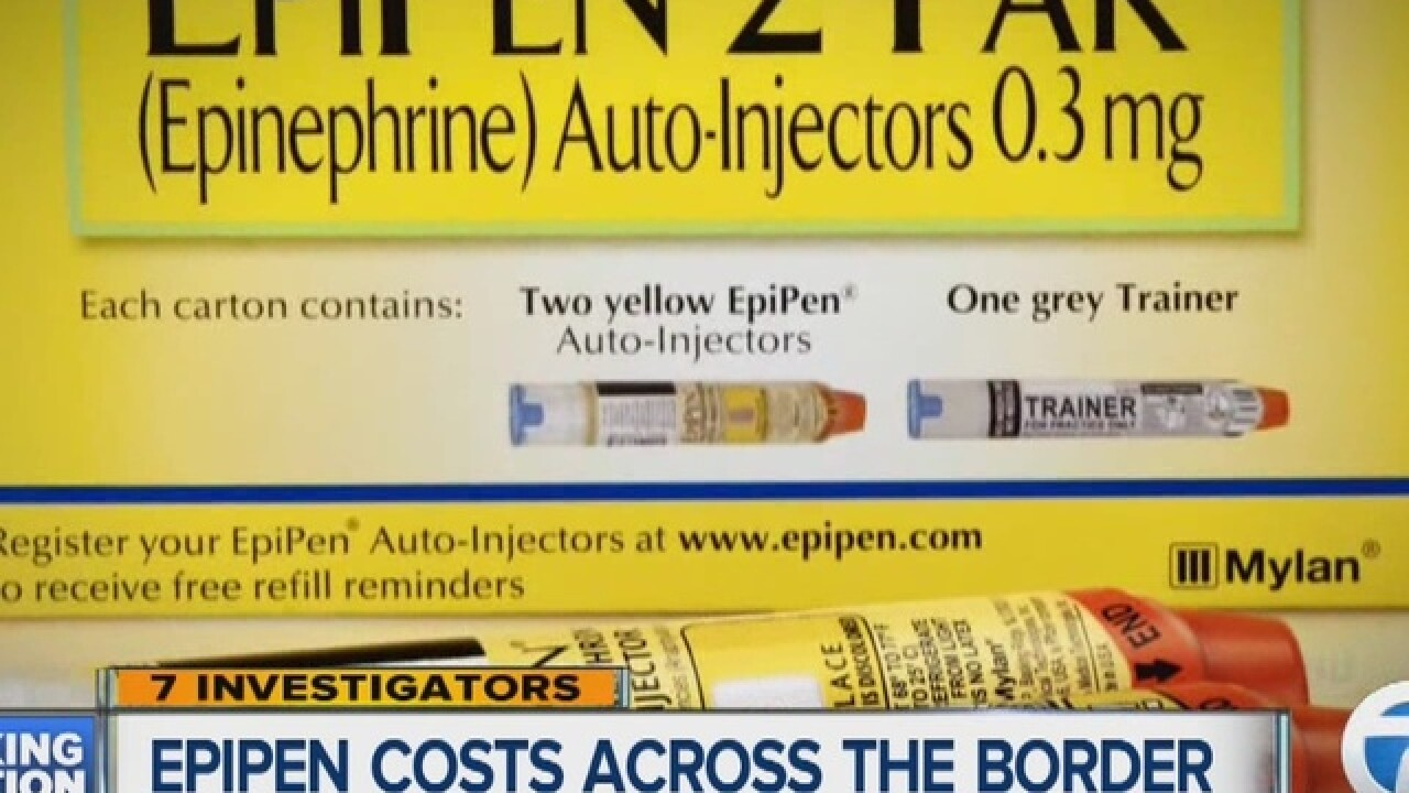EpiPen markup does not exist in Canada