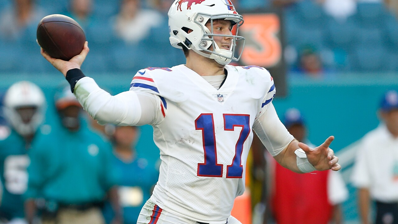 Josh Allen Bills Dolphins 2018