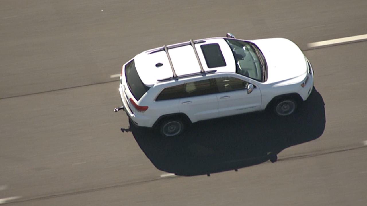 Police pursuit on Interstate 10
