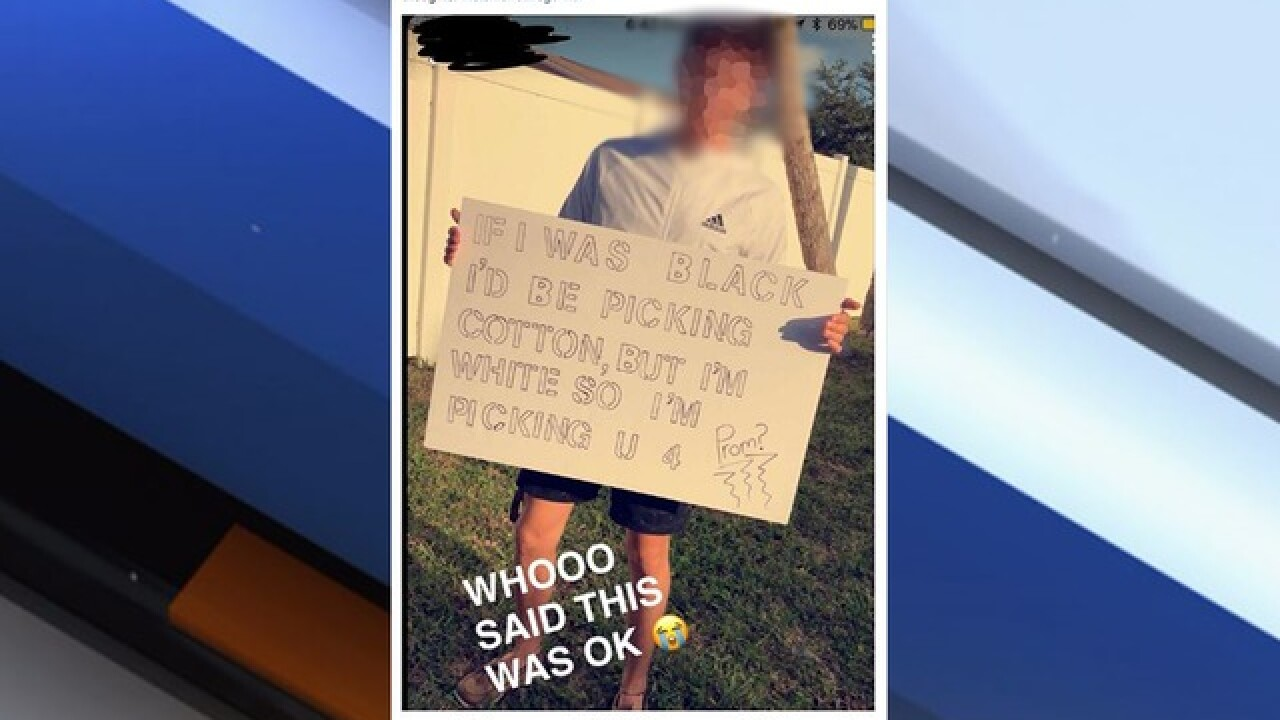 Racially offensive promposal under investigation