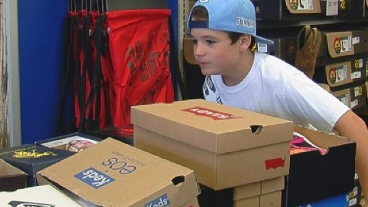 One 10-year-old has given almost 600 pairs of shoes to kids in need