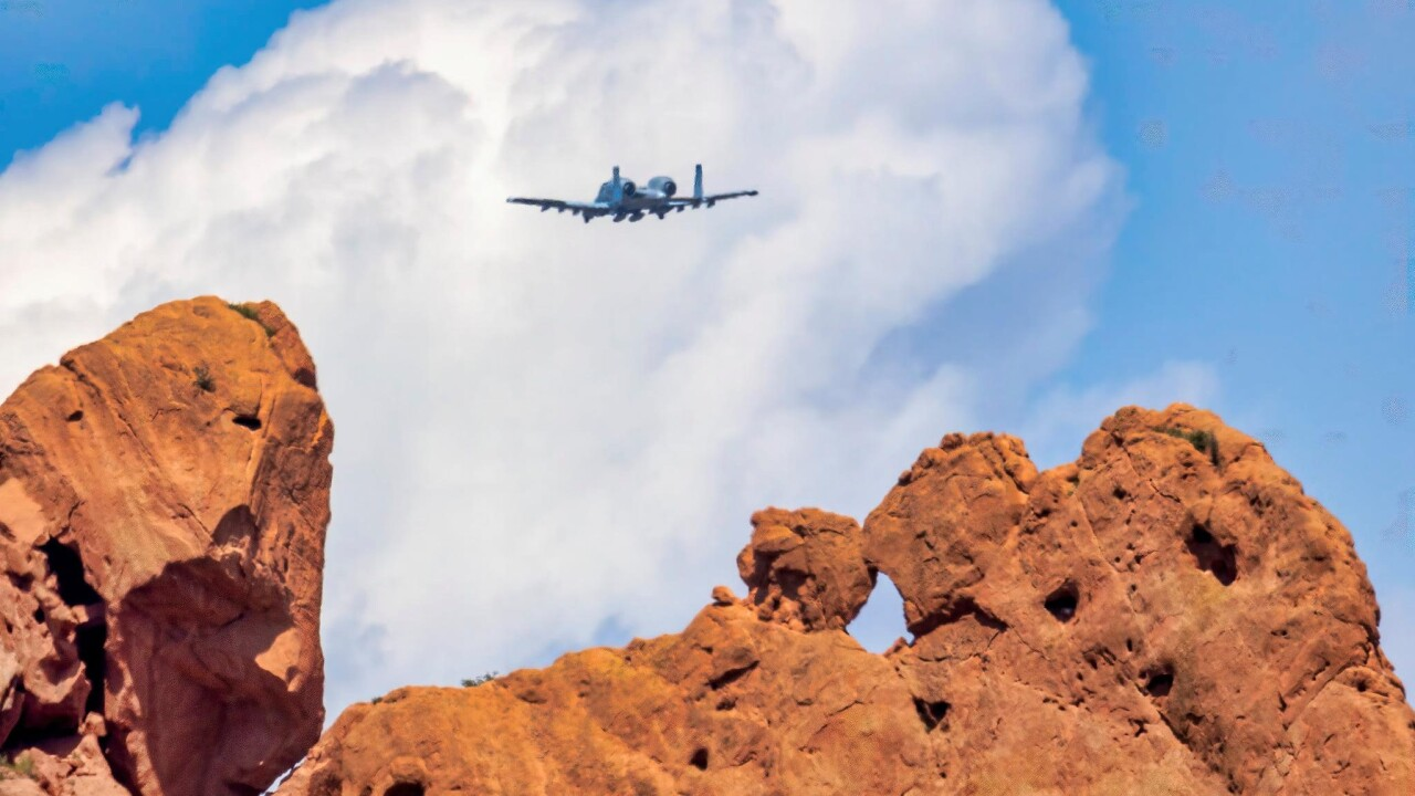 Larry Marr Garden of the Gods airplane
