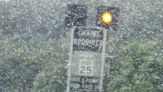 Winter storm brings rain, snow and lightning