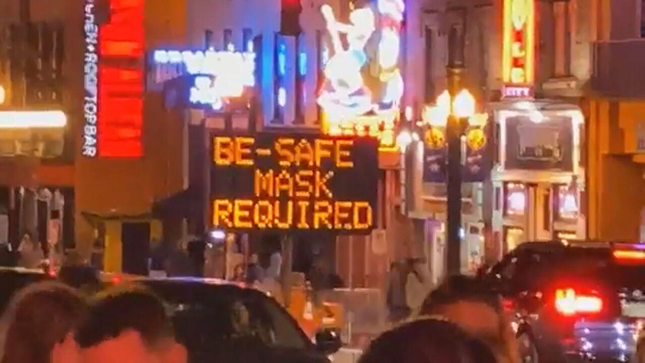 masks - downtown - broadway