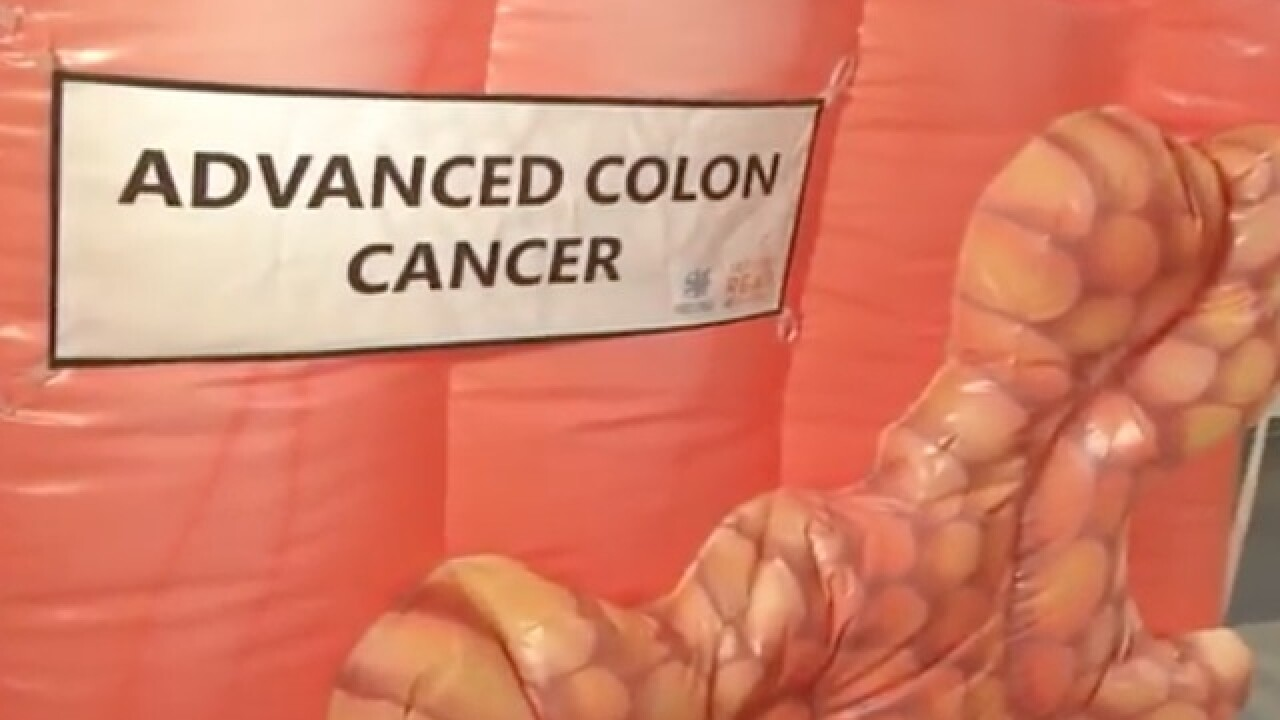 Giant inflatable colon stolen in Brookside, KU Health System says