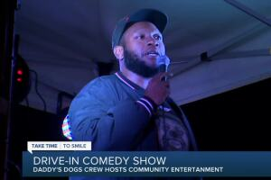 Drive-in comedy show aims to give people time to laugh