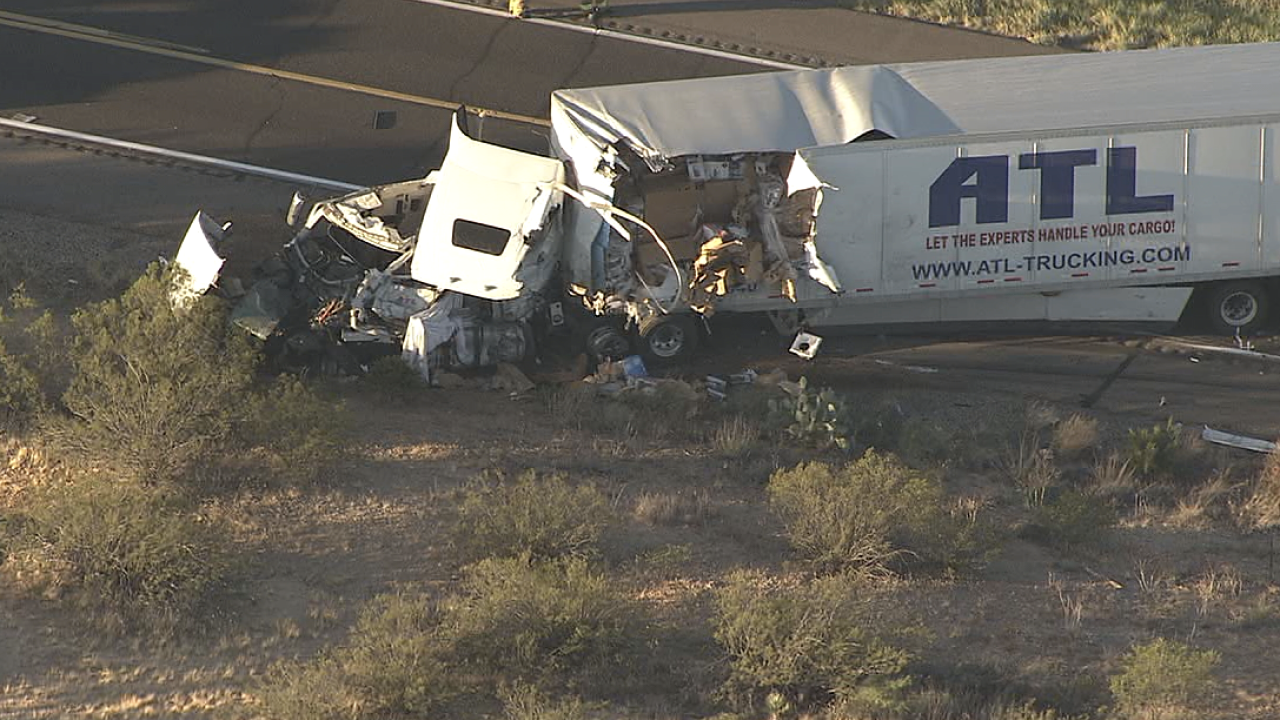 Wickenburg semi crash