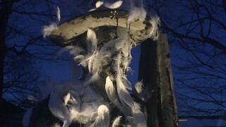 "Allendale statue cleaned up after being ""tarred and feathered"""