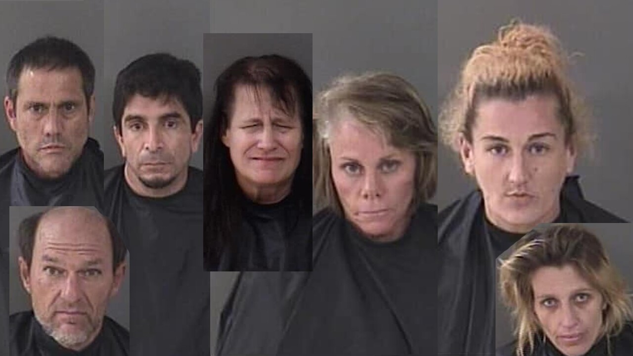 Seven people are facing charges after the Indian River County Sheriff's Office (IRCSO) served two search warrants on Friday.