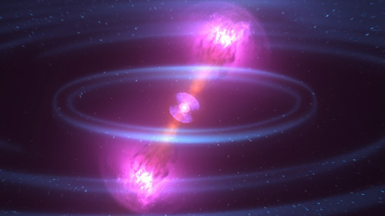 Two stars collide; first time scientists see it