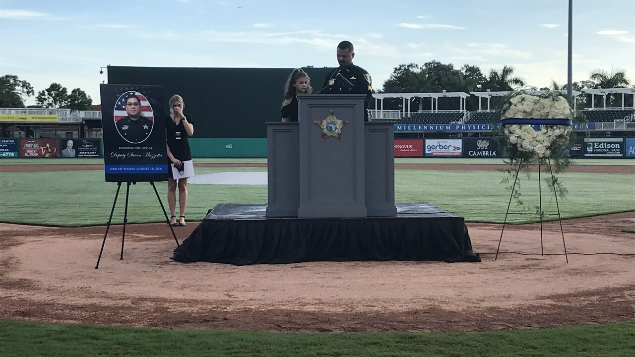 Deputy Sheriff First Class Steven Mazzotta's memorial service