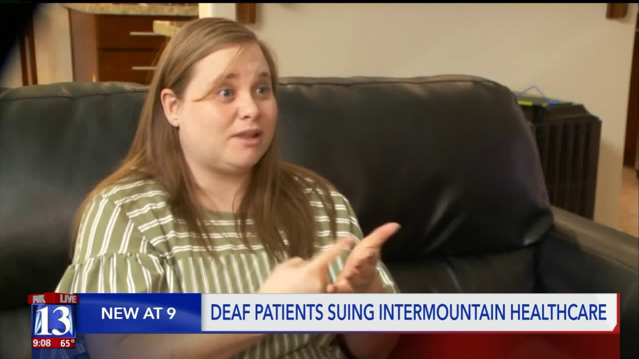 Deaf patients suing Intermountain Healthcare for lack of ASLinterpretation