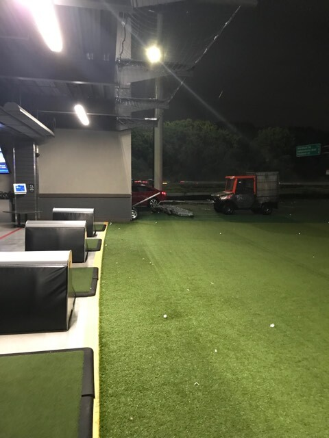 Photos: Man charged with DUI after driving onto field at Virginia Beach Top Golf, policesay