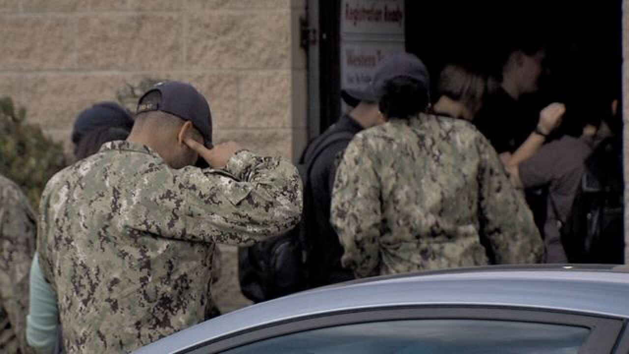 Several sailors' cars towed after parking mix-up