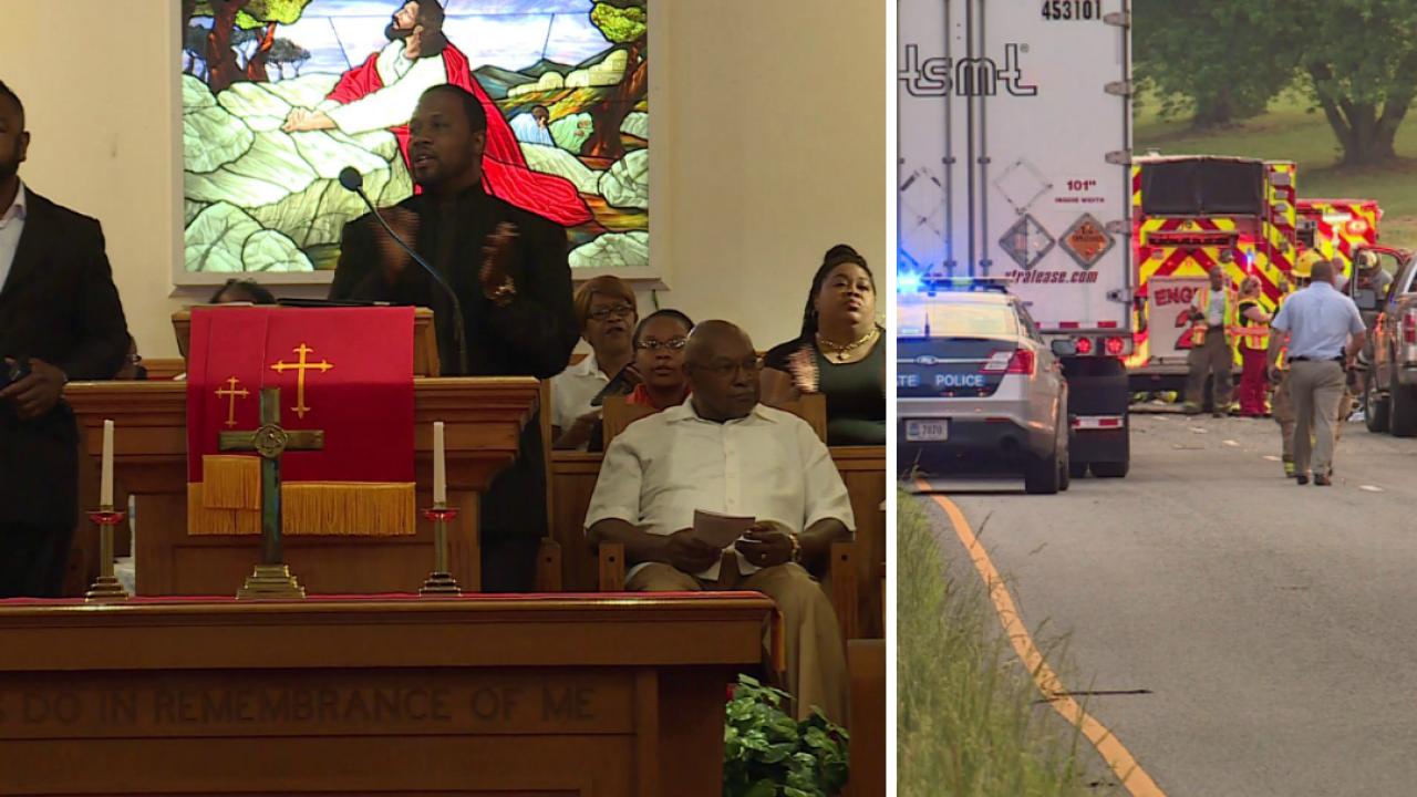Revival service at Dinwiddie church celebrates lives lost in vancrash