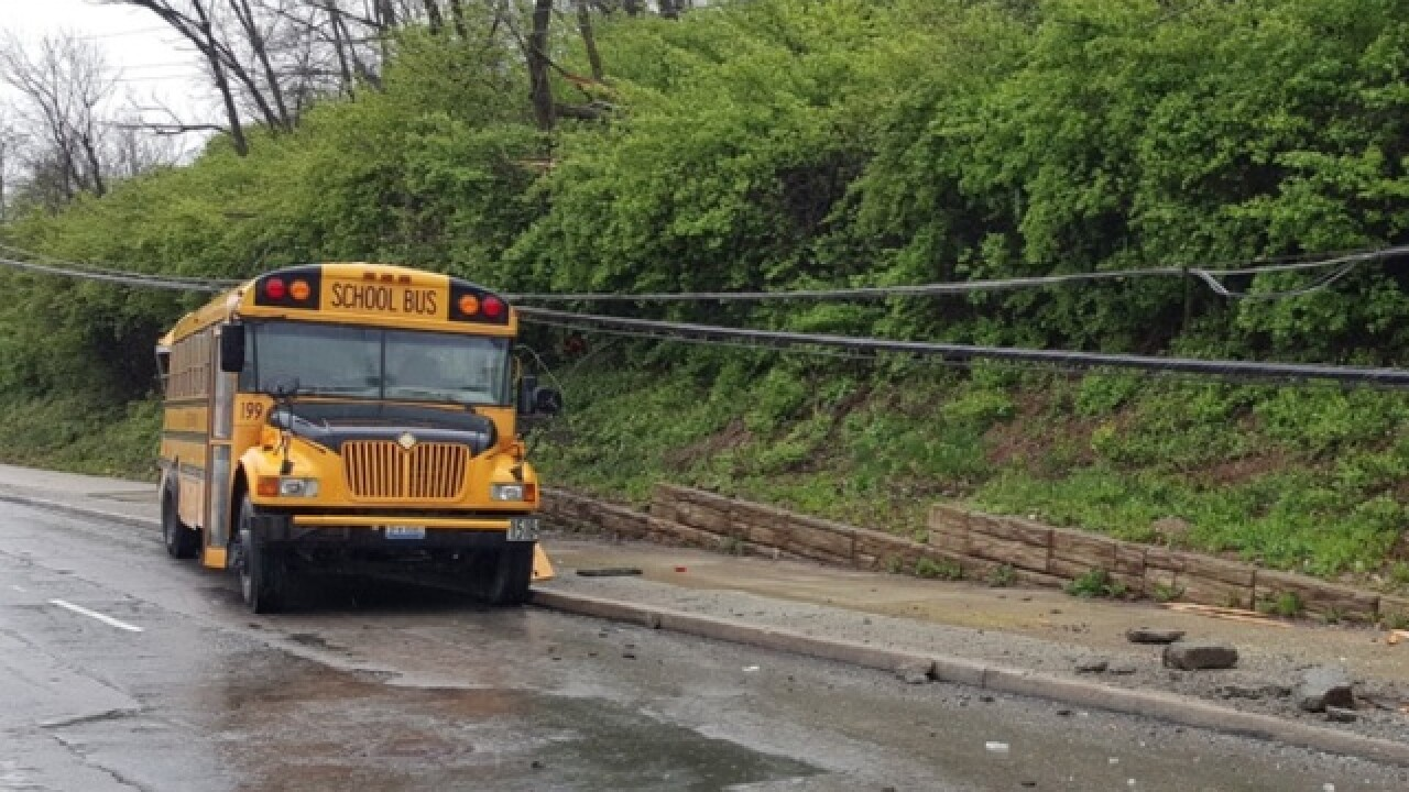 Police: 40 people involved in school bus crash