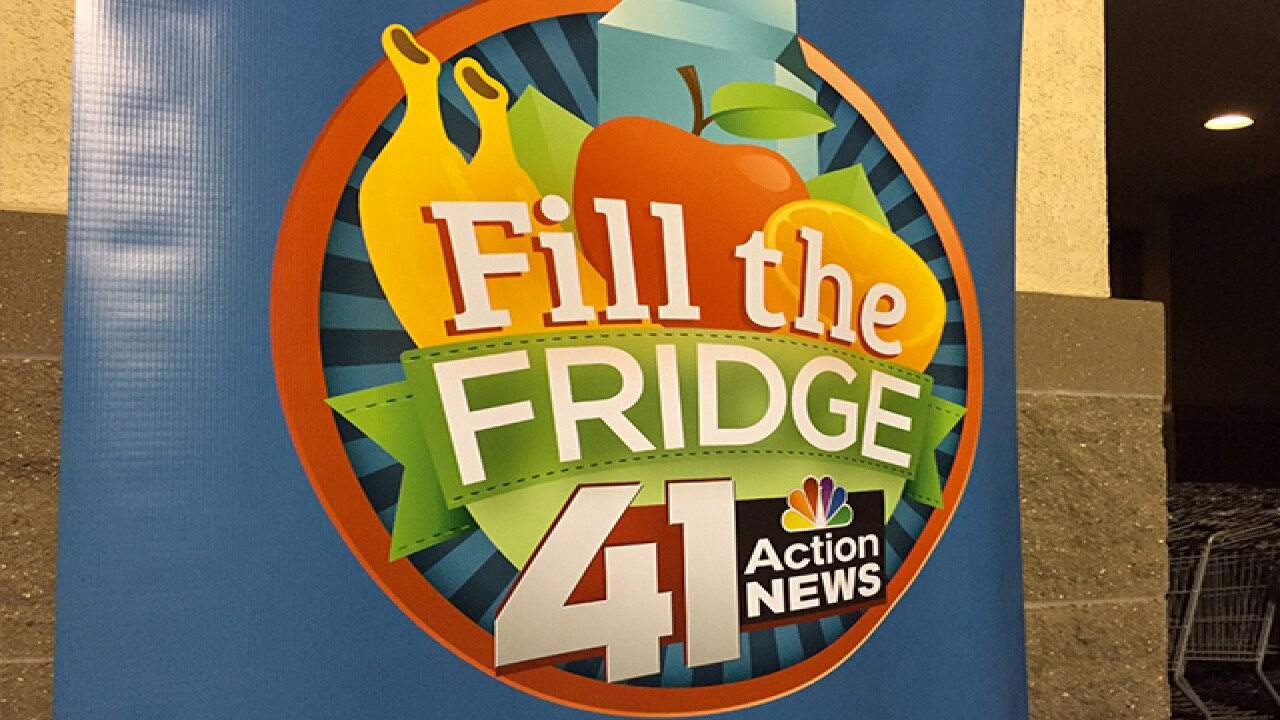 Fill the Fridge: Donations are welcome!