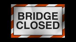 Monnot Road Bridge closed
