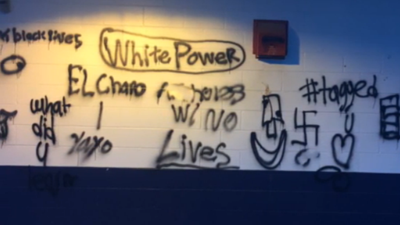 Vandals damage property, spray paint vulgar messages on walls of Richmond little league complex