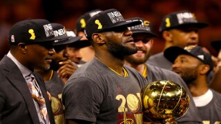 Cavs win the 2016 NBA Finals