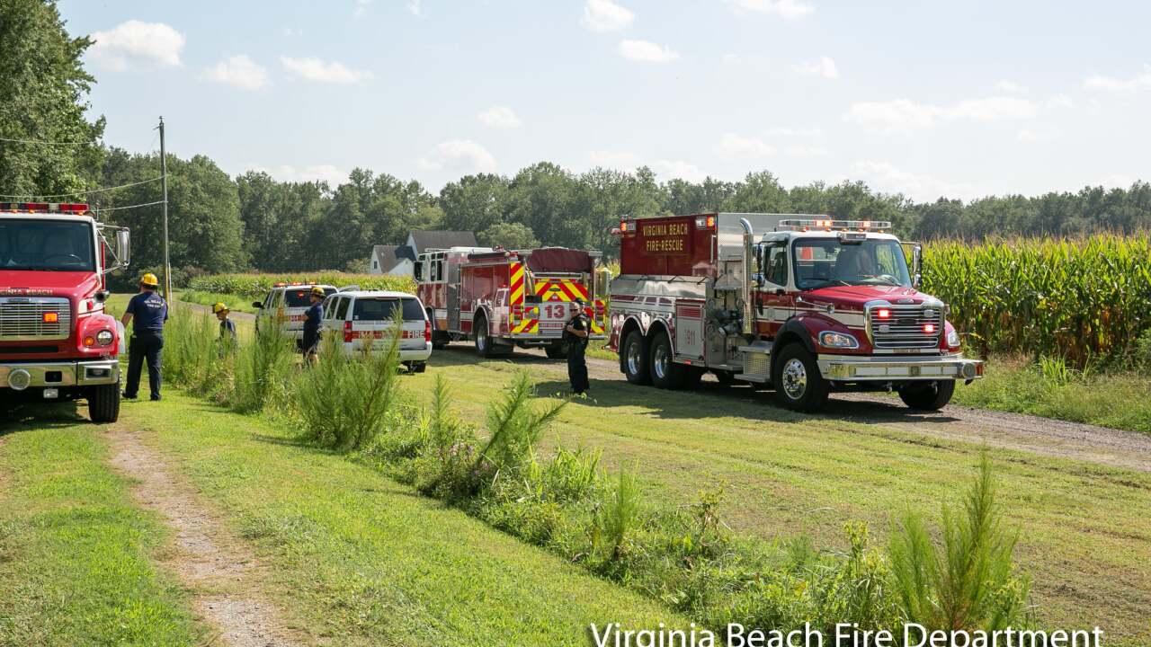 VB 1500 Back Bay Landing Road abandoned house fire (August 25).jpg