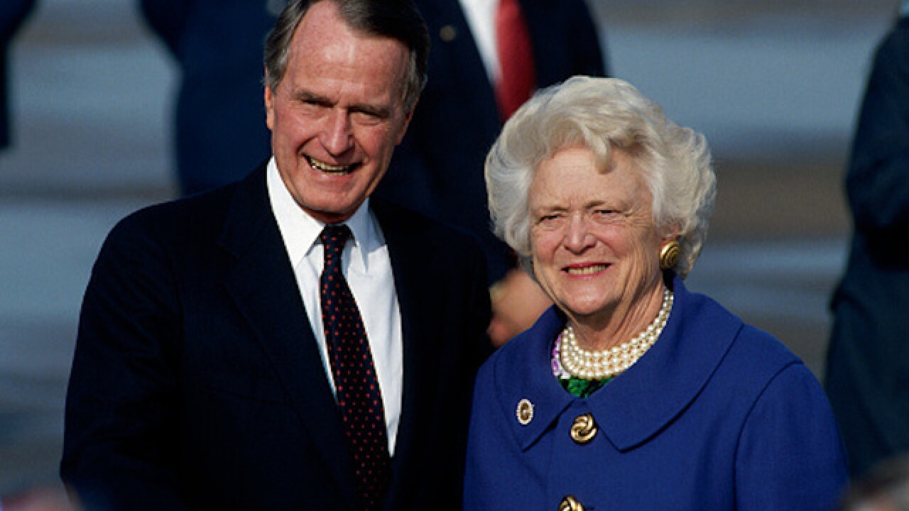George H.W. Bush and wife, Barbara's health improving