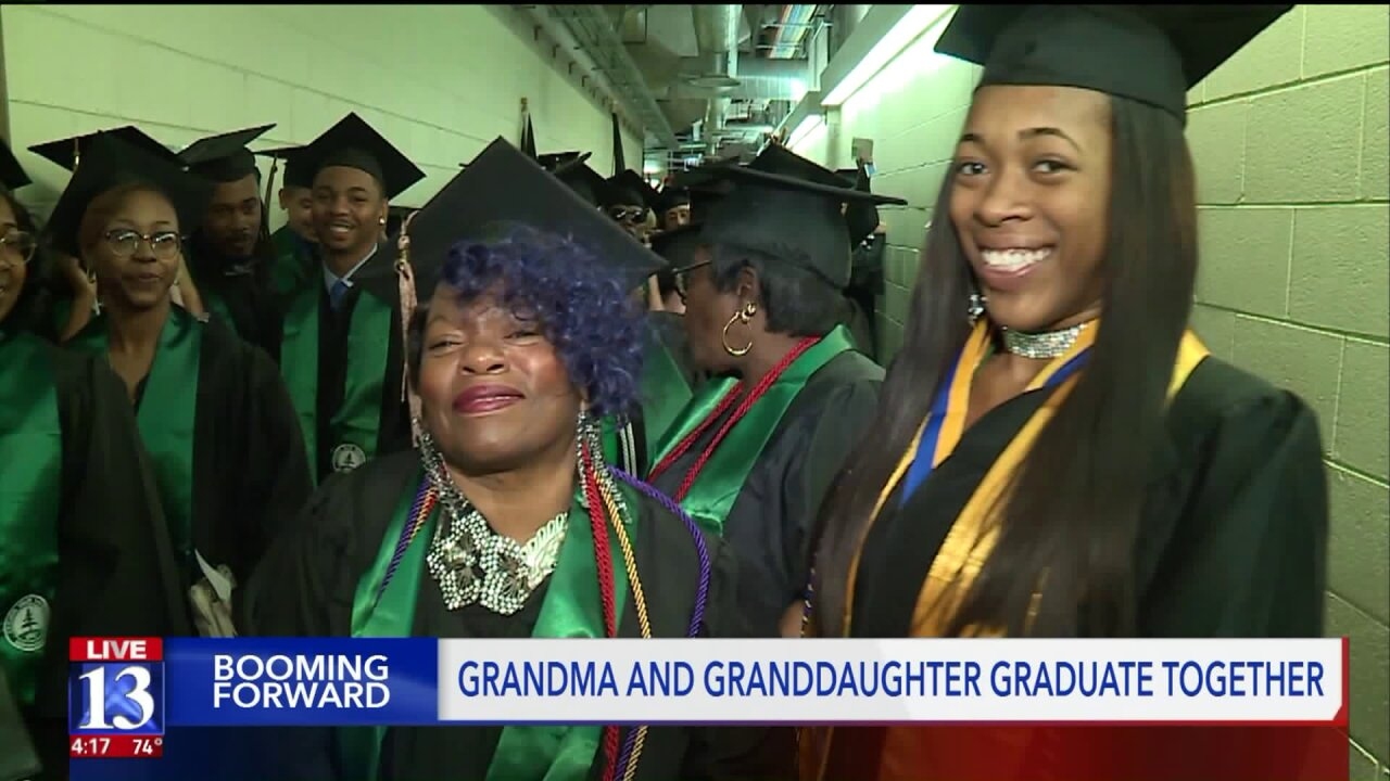 Grandma and granddaughter graduate together