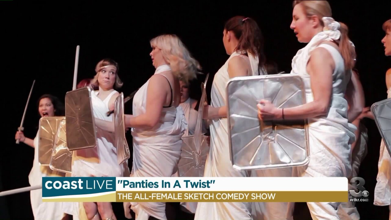"Prepping for the all-women comedy show ""Panties in a Twist"" on Coast Live"