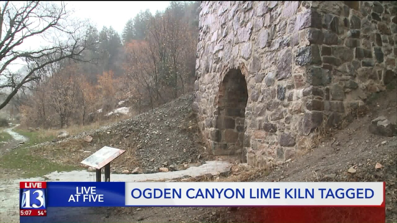 Vandals tag historic lime kiln in Ogden Canyon with graffiti
