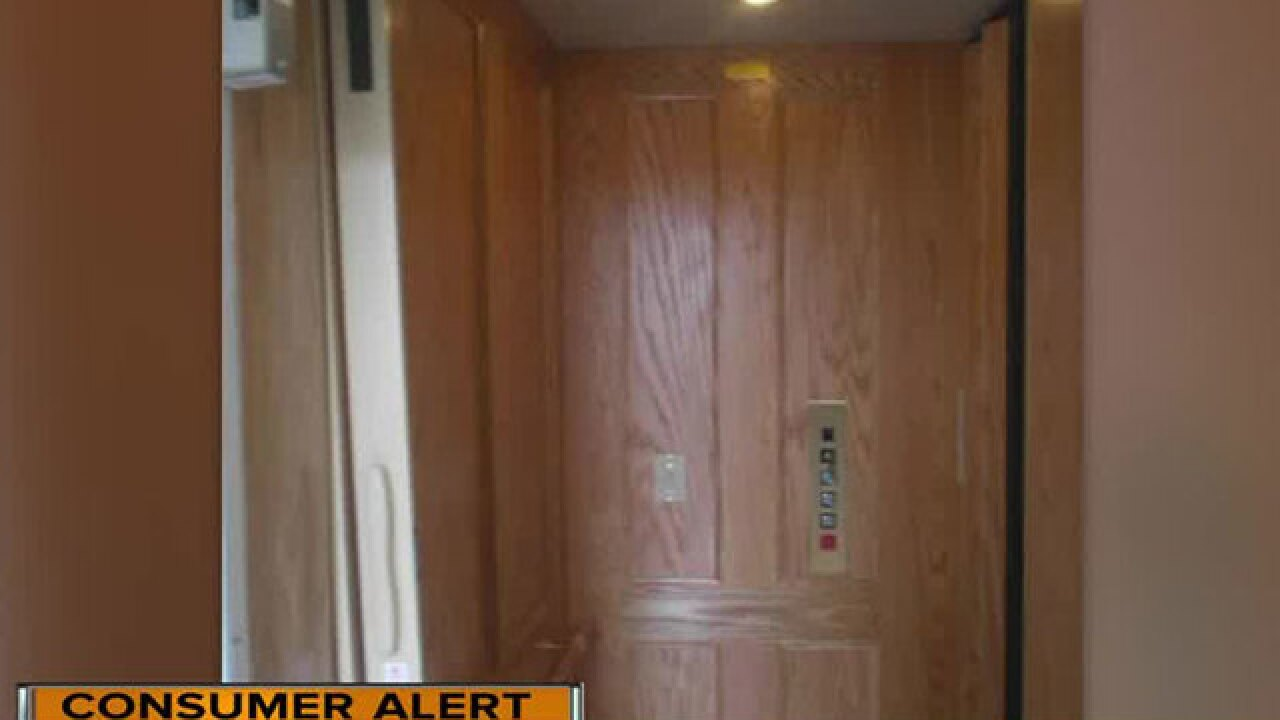 Waupaca home elevators recalled after they can unexpectedly fall