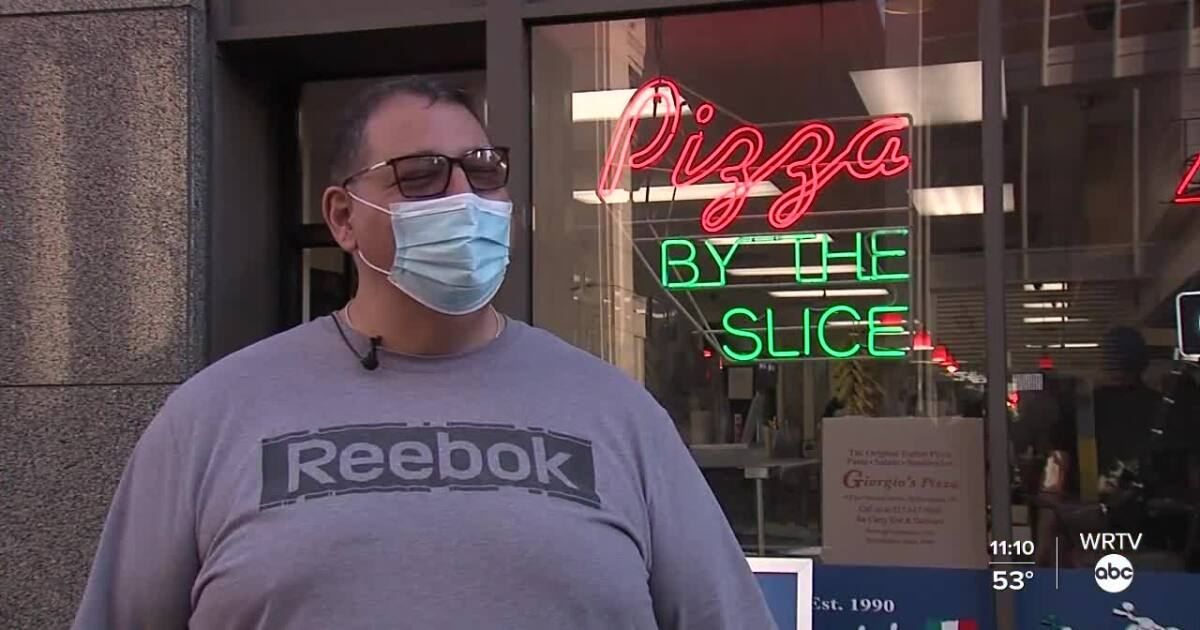 Pizza shop owner 'fired up' for month of college sports in Indy