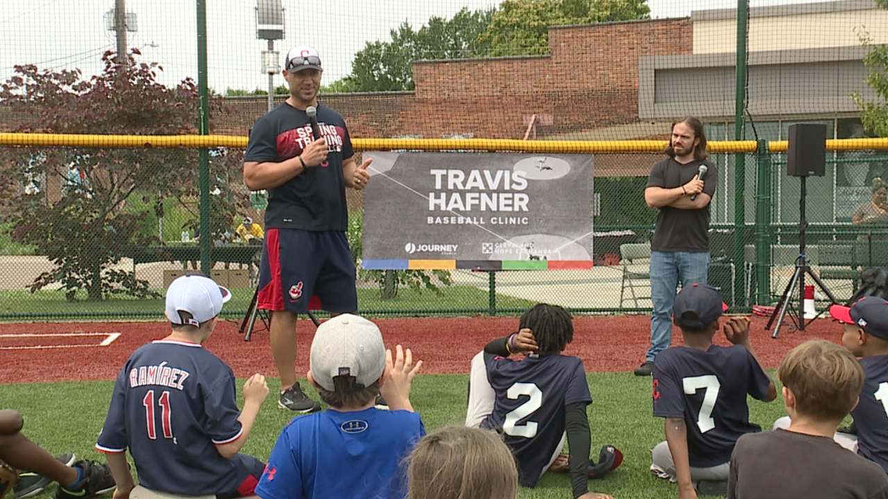 Former Indians star Travis Hafner hosts baseball clinic for kids in underserved communities