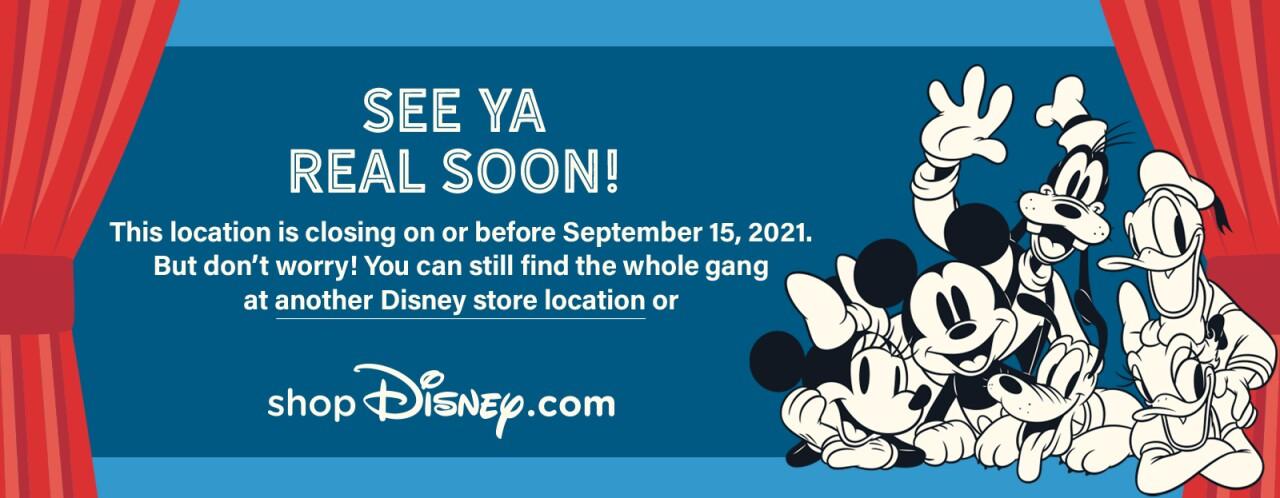 Disney Store closing