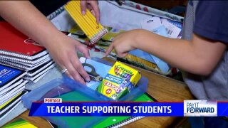 Portage teacher helping students in need one cinch sack at a time