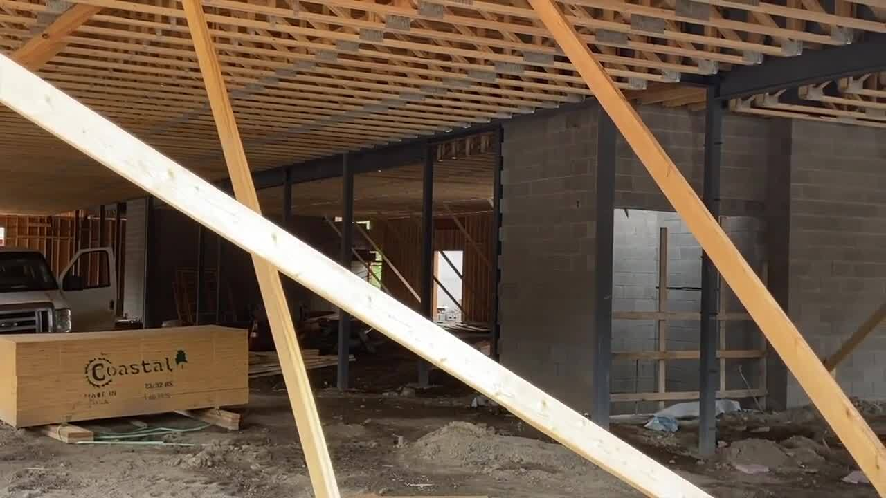 Continued construction on the new Eastside Lansing Food Co-op