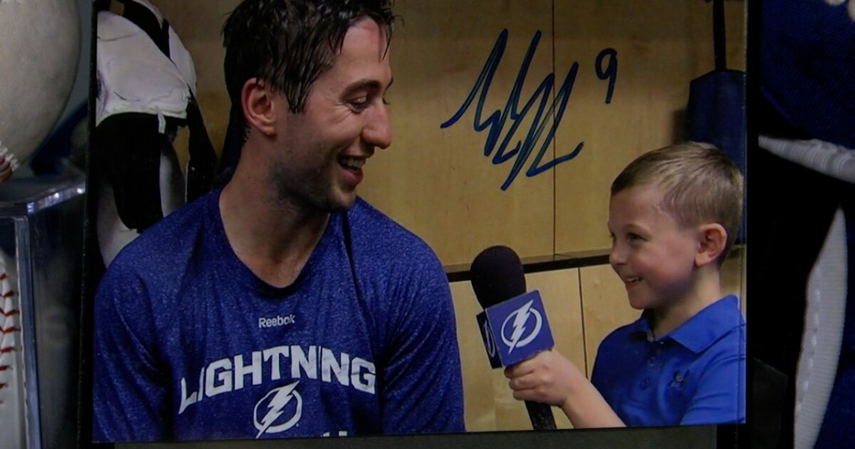 11-year-old hockey reporter getting big time experience