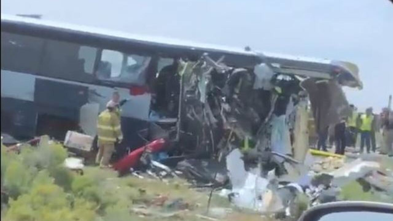 Multiple people dead after bus crash in New Mexico