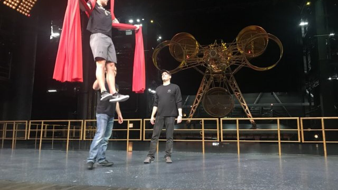 PHOTOS: Golden Knights work out with Cirque