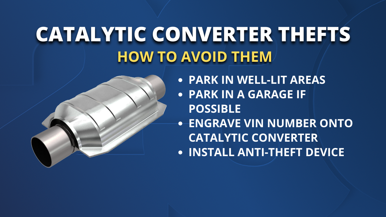 Tips to Avoid Catalytic Converter Thefts