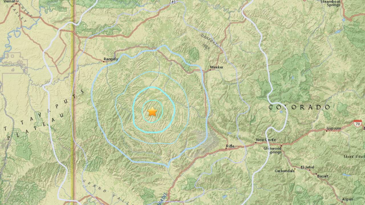 Shallow earthquake reported northwest of Parachute