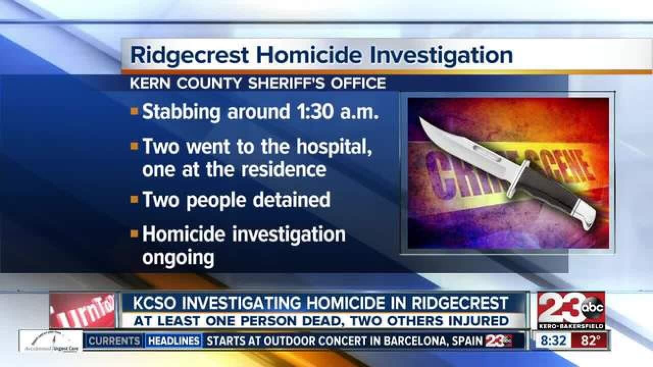 Homicide investigation in Ridgecrest