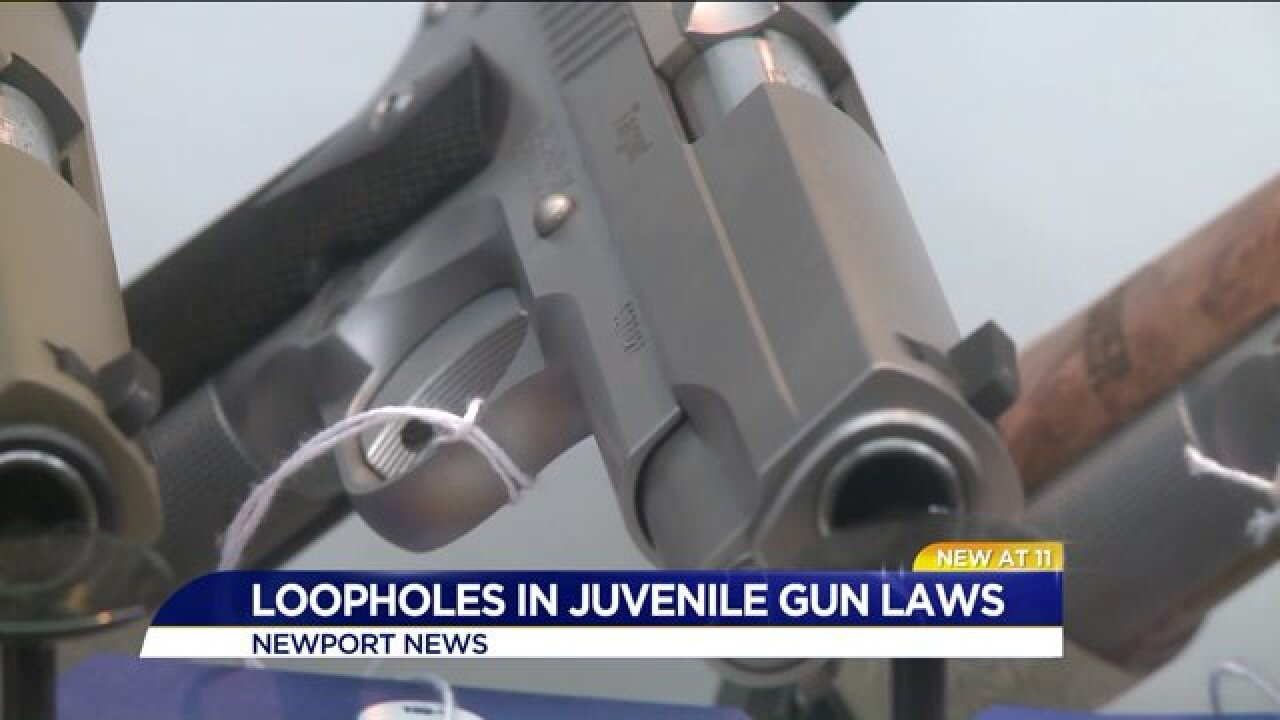 Newport News Police looking for clarification about juvenile gunrights