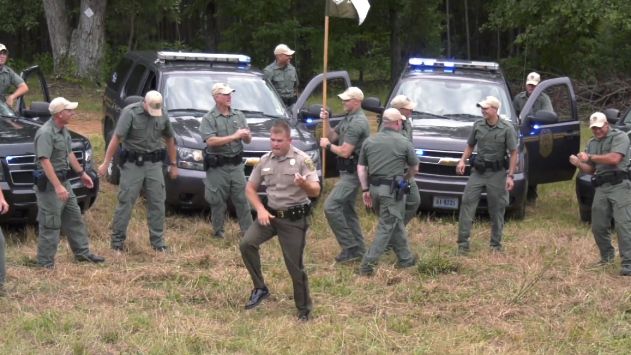 Virginia Conservation Police join the lip syncchallenge