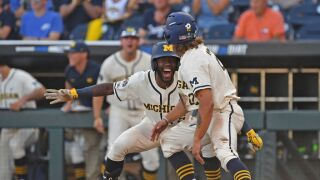 College World Series - Michigan v Vanderbilt - Game One
