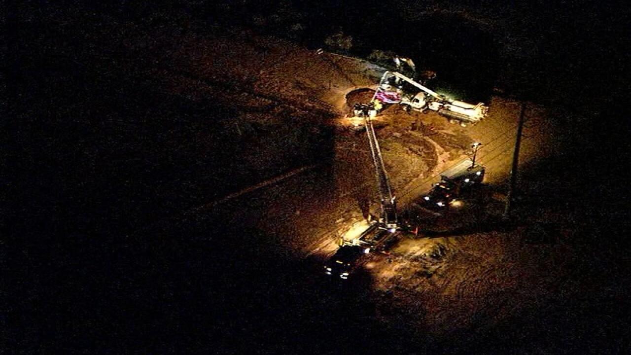 Crews working large Queen Creek sinkhole rescue