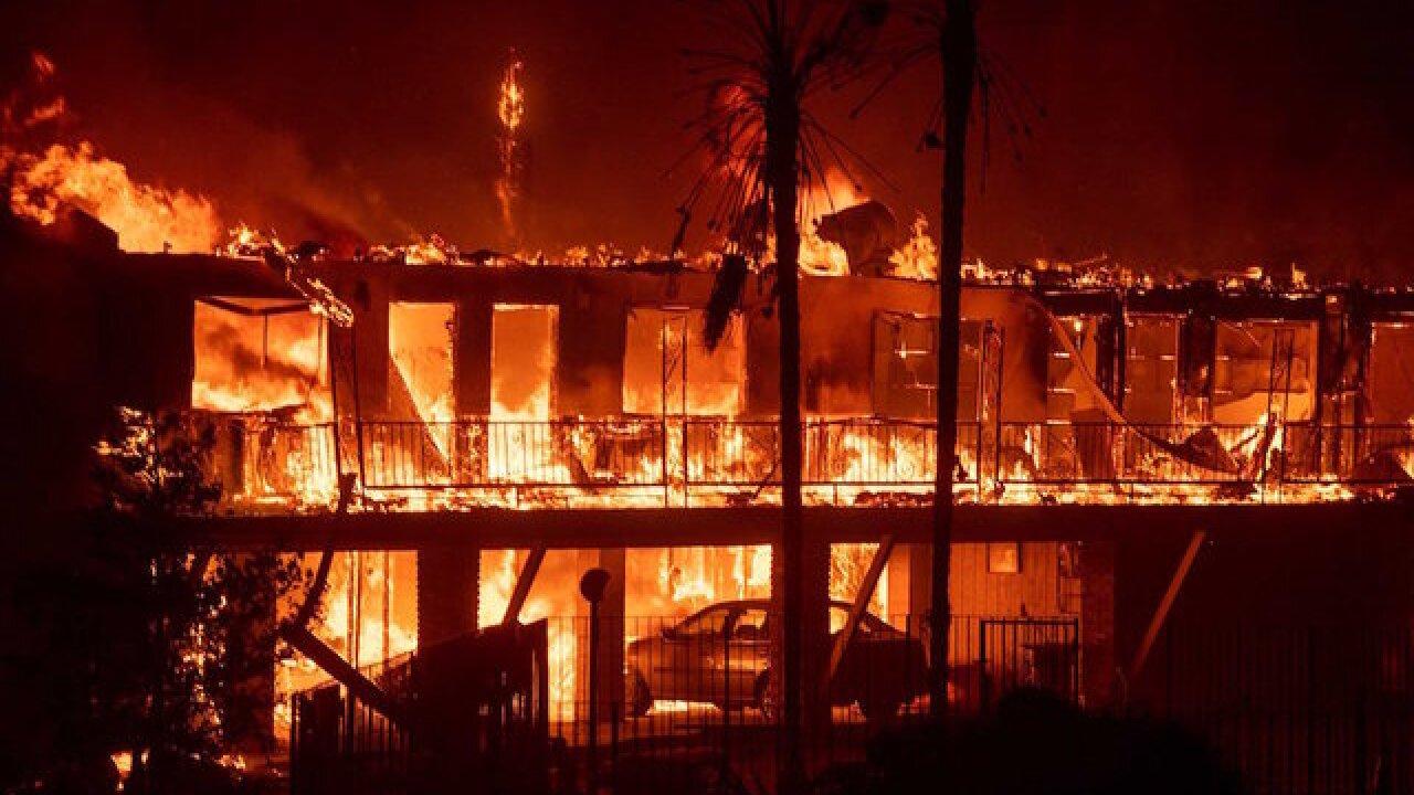 9 dead in raging California wildfires