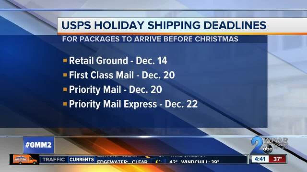 Tips for mailing holiday packages