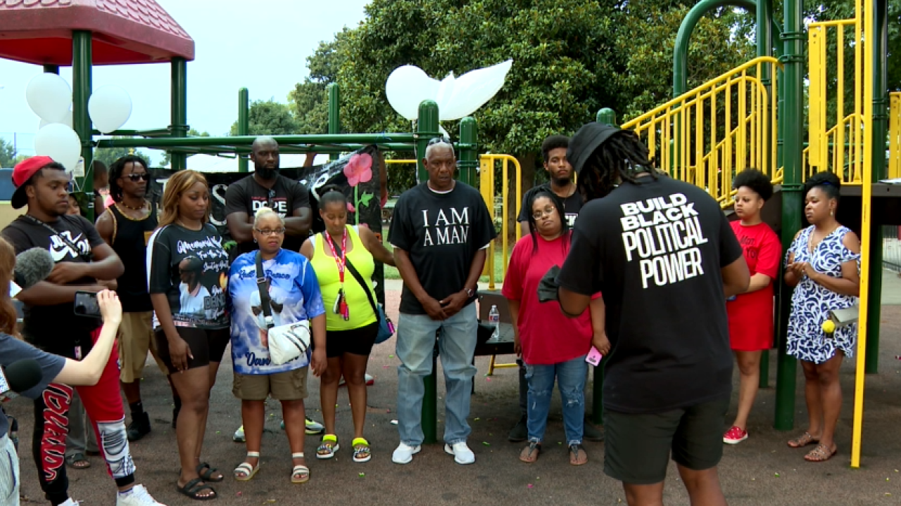 Family and friends of Daniel Hambrick gather for memorial vigil