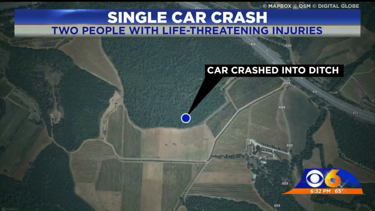 Car crashes into ditch; 2 critically injured inChesterfield